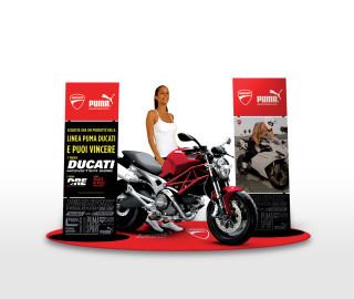 Allestimento in store per Puma Ducati