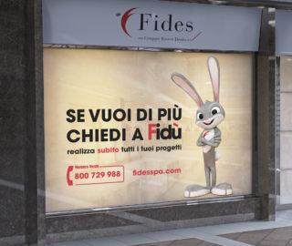 la mascotte di Fides il leprotto Fidù